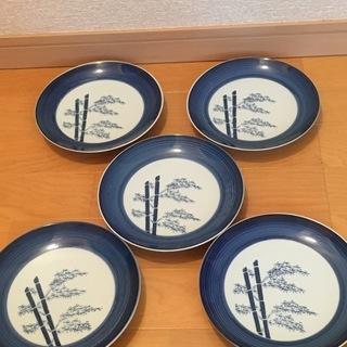 2,000円 肥前焼 有田 萬泉 染付 18cm皿 5枚セット ...