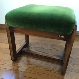 オールドカリモク スツール 椅子 モケットグリーン/カリモク60
