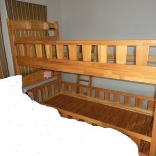 ★木製2段ベッド★引取りのみ無料で差し上げます★