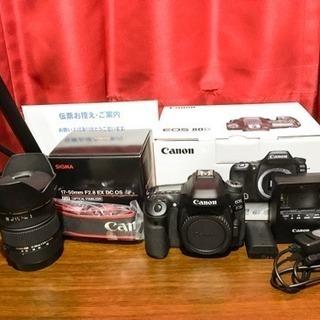 「お値下げ」Canon EOS80D レンズ セット*