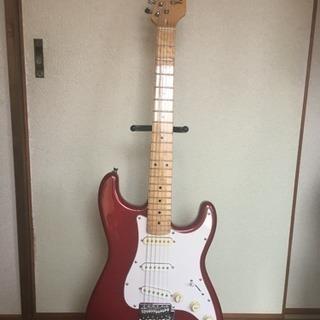 初心者用ギター  ストラト 赤 4点セット