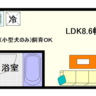 【マンションバッハ】2号タイプ!1LDKタイプ!ペットOKの人気物...
