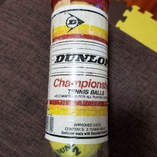 ダンロップ製 テニスボール3個セット