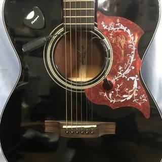 ◆【ブラック のアコースティックギター★おまけ付き★ピックアップ】◆