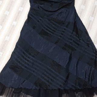 パーティー ドレス 黒×チェック