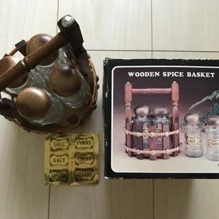 【新品】WOODEN SPICE BASKET/ガラス製ス…