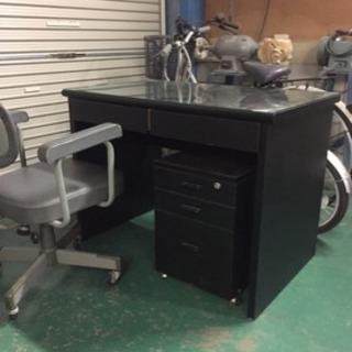 机、椅子、三段キャスター付き引き出しセット軽トラ送料込み