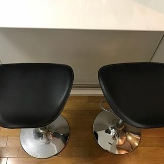 バーテーブル+バーチェア2脚付き(セット)