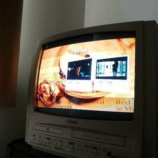 VHS/DVD内蔵テレビ、テレビ台