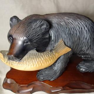 【 お譲りします】 昭和レトロな木彫り熊 0円