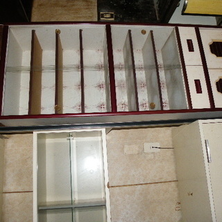 食器棚 幅60 奥34 高178cm 手作り鍋置き棚付き 幅60...