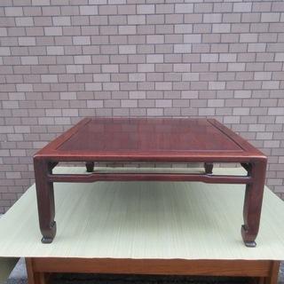 座卓テーブル 古い文台 ちゃぶ台 正方平卓紫檀無垢唐木中国美術