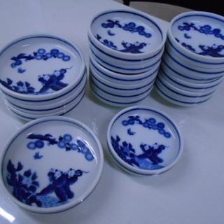 陶器製 中国の子どもの絵柄 小皿23枚セット