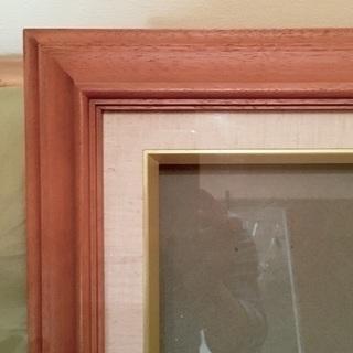 木製 油彩額縁(ガラス付き) サイズF12(606×500)