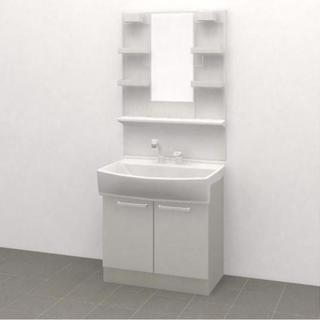 洗面化粧台 W750 一面鏡 ノーリツ シャンピーヌ 新品