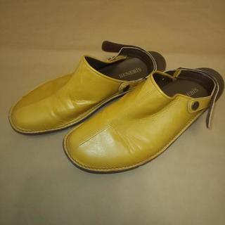 サンダル フラット 黄色 23.5~25cm位まで