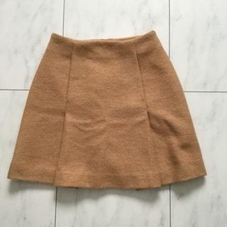 【ネット決済・配送可】rienda ウールタックプリーツスカート