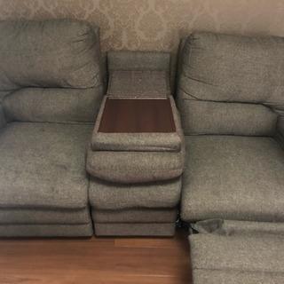 3人掛け片側リクライニングソファ