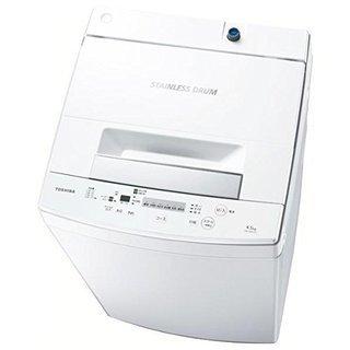 ピュアホワイト洗濯機! 東芝 AW-45M5 ステンレス槽