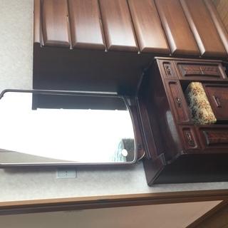 ☆アンティークなカントリー風 高級感のある木製 鏡台/ドレッサー...