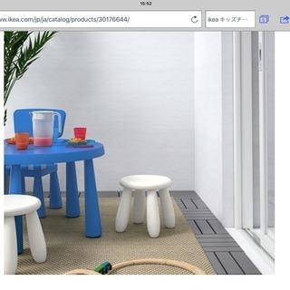 IKEA マンムット スツール ホワイト