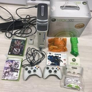 終了 Xbox360 本体一式 ソフト3本 箱付き ヘッドセット...