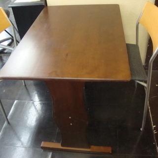 ◇赤茶系・ダイニングテーブル&椅子2脚◇