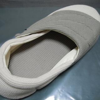 ケアシューズ 介護靴 ワイドベルトワッフル Lサイズ 左