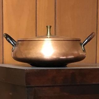 純銅製 天ぷら鍋 網・蓋つき 超レアモデル