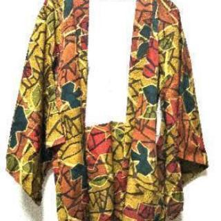 幾何学模様 いろんな色 羽織