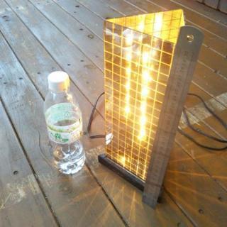 値下げ ガラス製 置き照明器具 替え電球付き