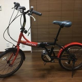 DUCATI 折り畳み自転車 TDF-206 20型 6段変速付 美品