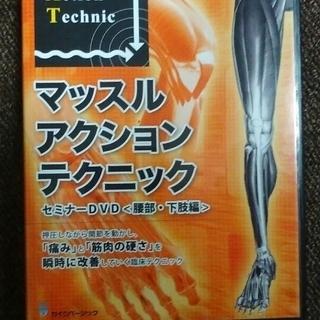 マッスルアクションテクニック セミナーDVD 腰部・下肢編(整骨...