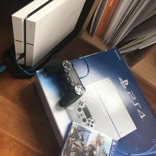 PS4 ホワイト500GB モンハンワールド 縦置きスタンド付き