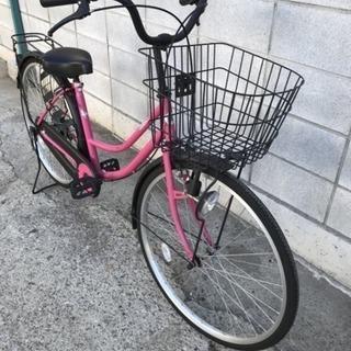 自転車 26インチ ピンク ブラック