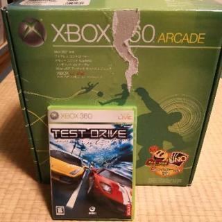 xbox 360 コントローラ、メモリカード、テストドライブアン...