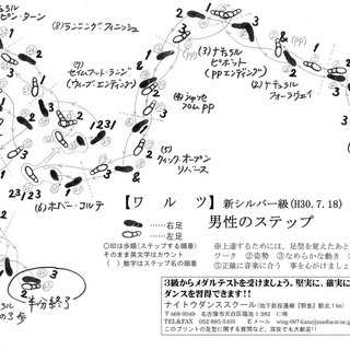 ワルツ(社交ダンス、愛知県財団系のメダルテスト足型の新シルバー級...