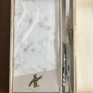 桐箱入り 帯〆 帯揚 扇子