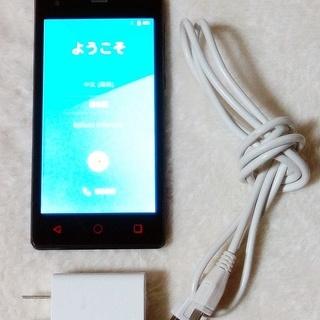 商談中【中古】priori3 LTE(ドコモ回線sim対応)充電器...