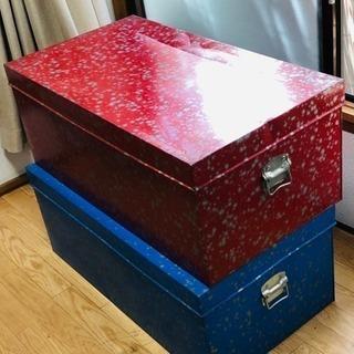 赤色 押入れ収納 スチール箱