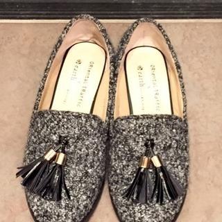 ツイードシューズ 婦人靴34(22.5センチ)
