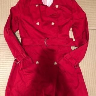 トレンチコート   赤  Lサイズ