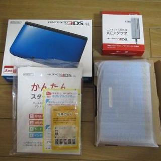 ■美品■ニンテンドー3DS LL ブルー×ブラック+(別売)充電器付き