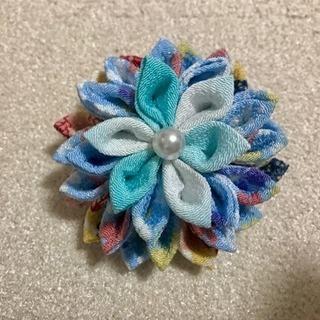 【新品】髪飾り 和風ヘアアクセサリー (青)