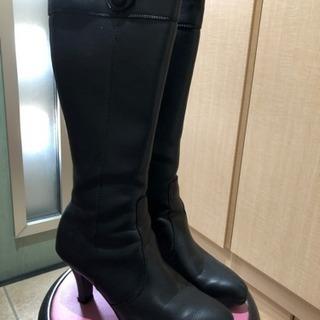 黒 ブーツ 24.5