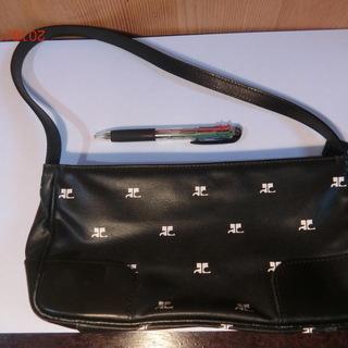 クレージュの黒ハンドバッグ