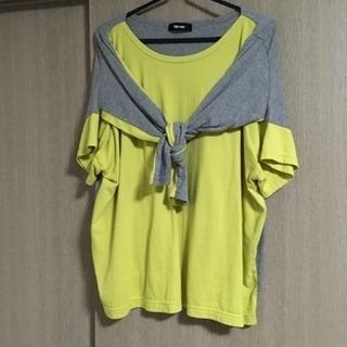 Ne-net 2wayジャージ カットソー 黄×グレー