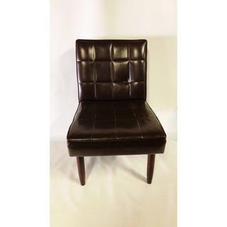 ヴィンテージ 一人掛け 椅子 ソファー 茶色 本革