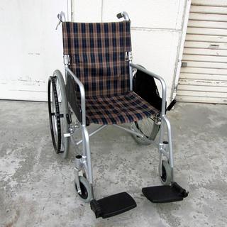 宮の沢店 車椅子自走式 背折れ車いす 車イス 茶系チェック ハンド...