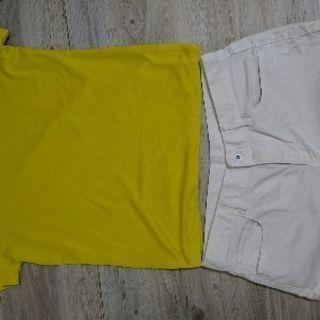 黄色シャツ、ショートパンツ レディース(10/13迄)